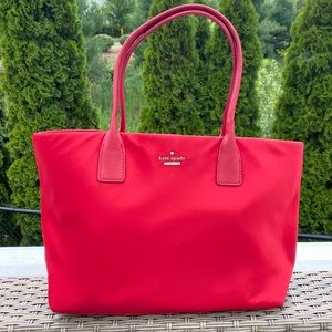Authentic Kate Spade Red Nylon Classic Catie Tote